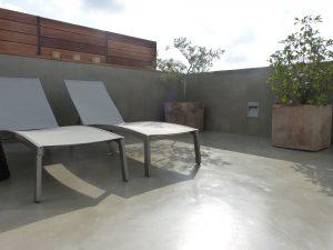 terraza de microcemento