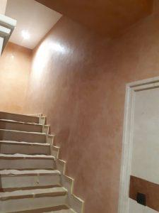 estuco en escaleras en Vitoria Pintores