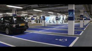 pintura de parking privado en Vitoria