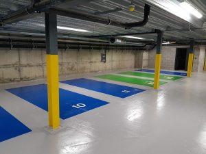 pintura de garajes parkings aparcamientos en Vitoria baratos calidad
