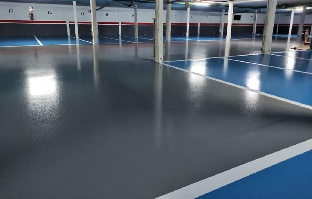 Resina epoxi pavimentos nave industrial reforma remodelacion epoxi